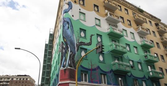I Piu Bei Murales.Roma Ecco Il Murale Mangia Smog Piu Grande D Europa Nelcuore Org